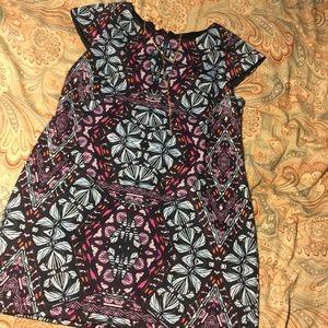 Vince Camuto Mosaic Print Shift Dress